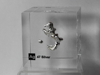 Acrylic Element-block Silver Ag - 50mm