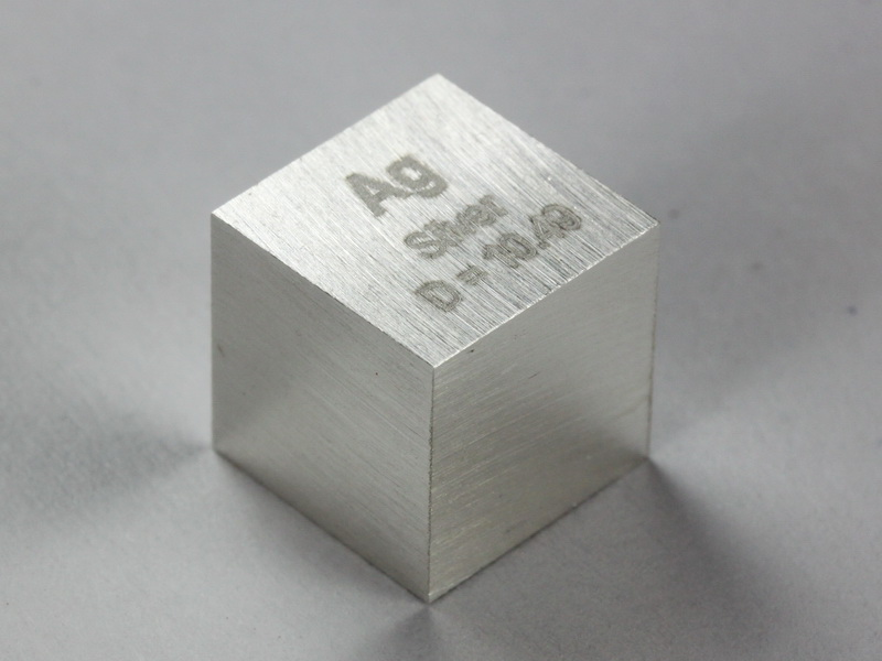 Silver – precision density cube 10mm – 10.49g