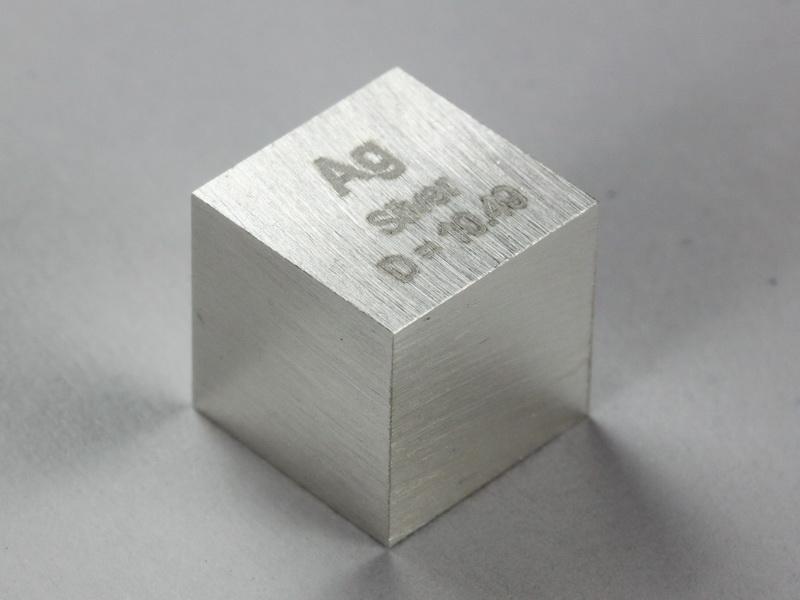 Silver – precision density cube 10mm – 10.49g