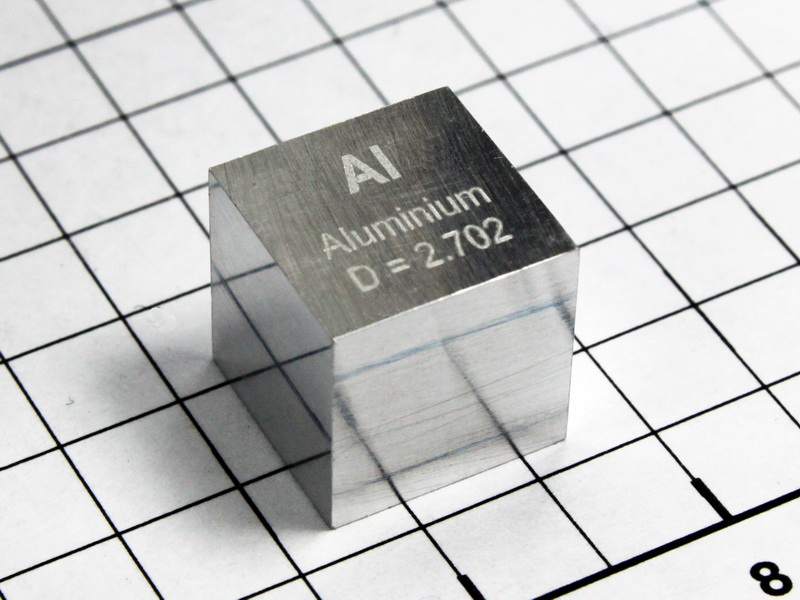 Aluminium precision density cube 10mm – 2.70g