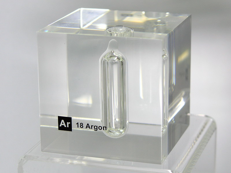 Acrylic Element cube – Ar Argon – 50mm