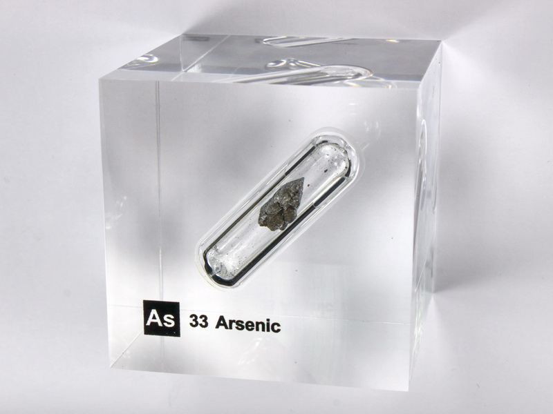 Acrylic Element cube – Arsenic As – 50mm
