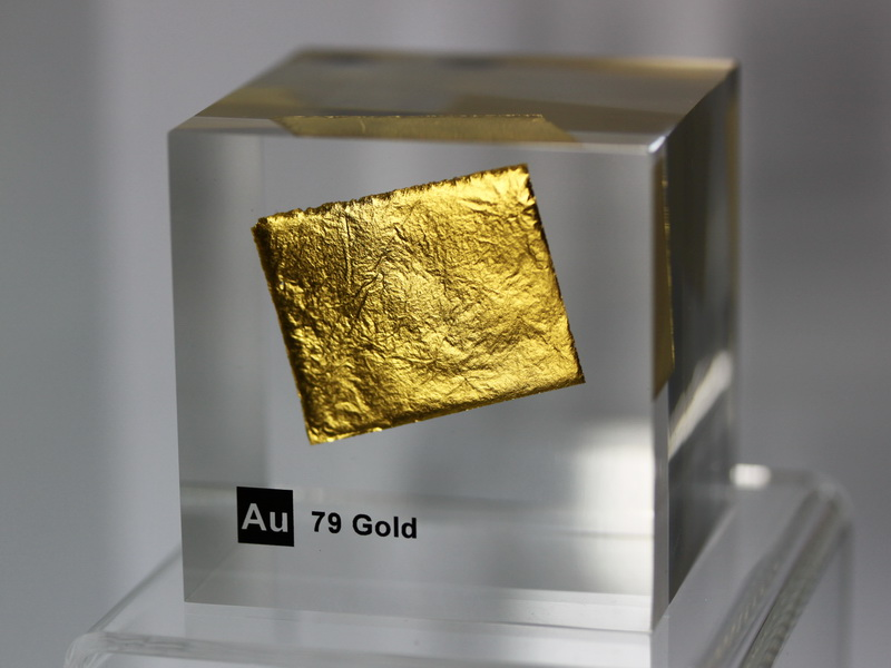 Acrylic Element cube – Gold Au – 50mm