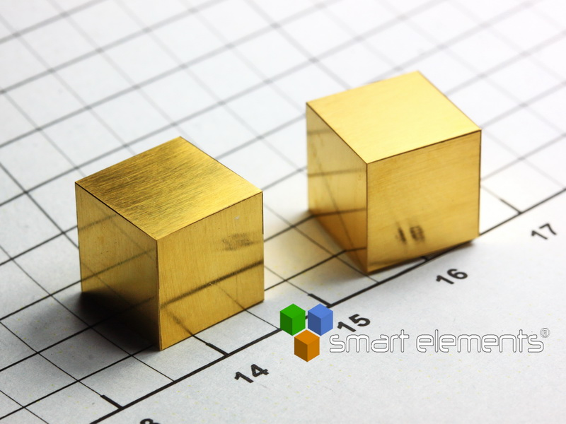 GOLD 24K precision density cube 10mm – 19.32g NEW!