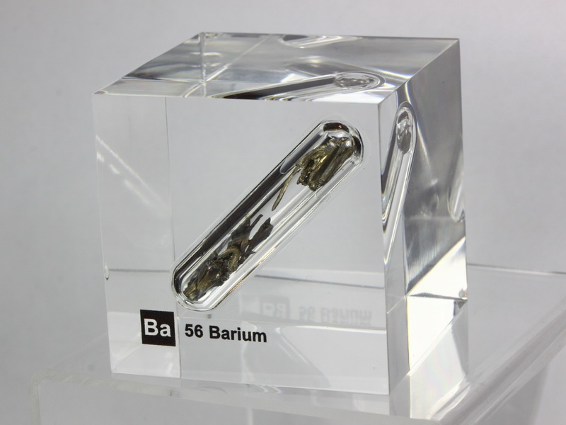 Acrylic Element cube – Barium Ba – 50mm