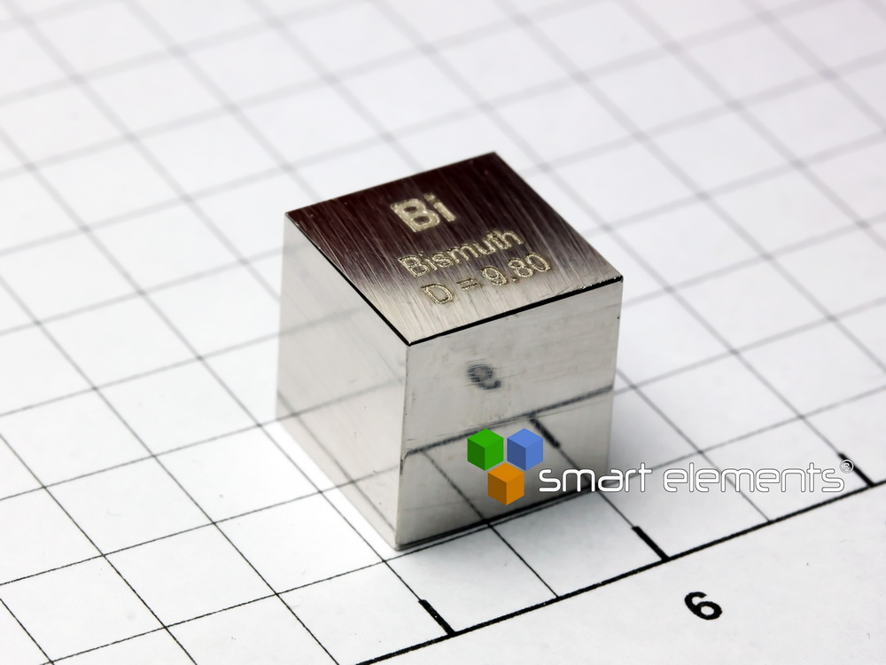 Bismuth – precision density-standard cube 1cm3