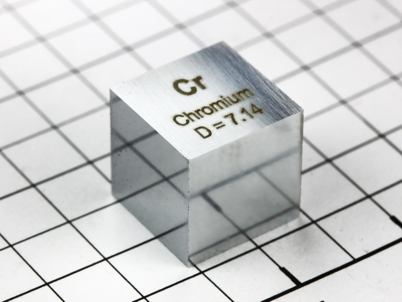 Chromium precision density cube 10mm – 7.14g