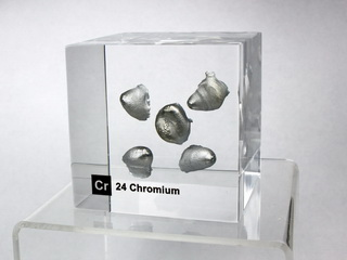 Acrylic Element cube - - Chromium Cr - 50mm