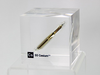 Acrylic Element cube - Caesium133 Cs - 50mm