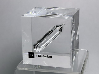 smart-elements - Acrylic Element cube - Deuterium D2- 50mm
