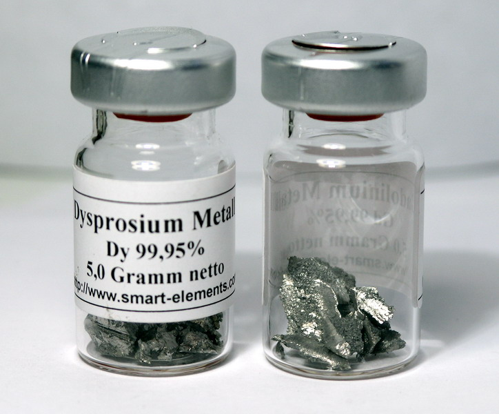 High purity Dysprosium Metal pieces 99,95% purity – 5 grams