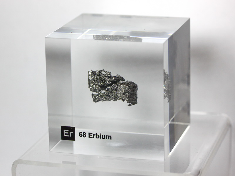 Acrylic Element cube – Erbium Er – 50mm