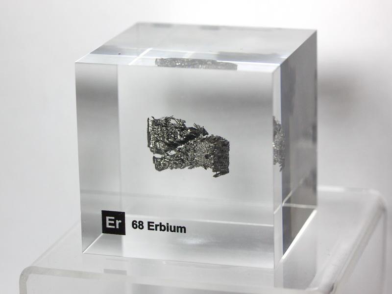 Acrylic Element cube – Erbium Er – 50mm