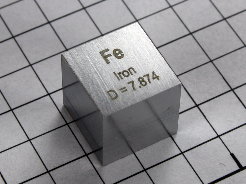 Iron – precision density cube 10mm – 7.87g