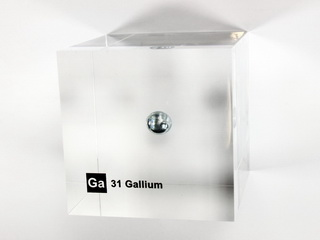 Acrylic Element cube - Gallium Ga - 50mm