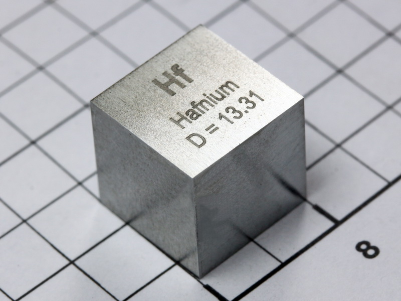 Hafnium – precision density cube 10mm – 13.31g