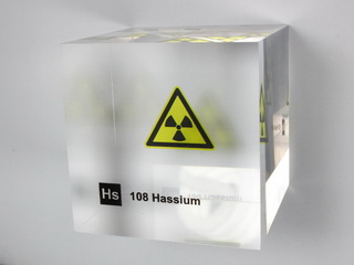 Acrylic Element cube - Hassium - 50mm