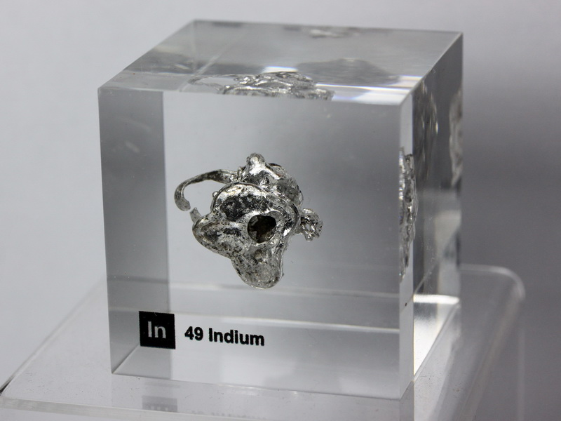 Acrylic Element cube – Indium In – 50mm
