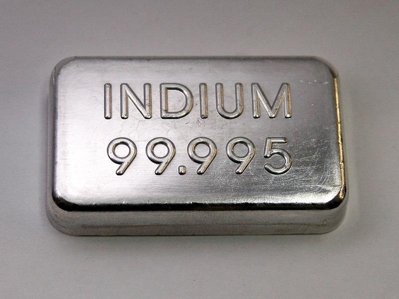 Indium Metal Ingot 99,995% min.  –  100g