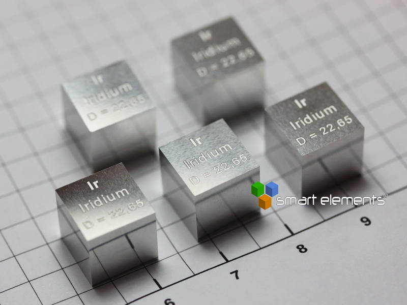 IRIDIUM most perfect density cube 10x10x10mm 22.65g