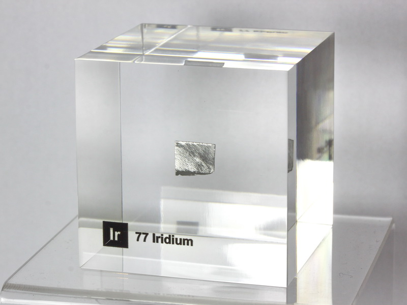 Acrylic Element cube – Iridium Ir – 50mm