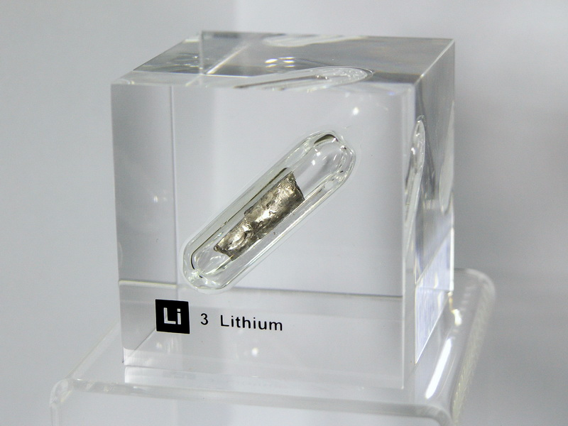 Acrylic Element cube – Lithium Li – 50mm