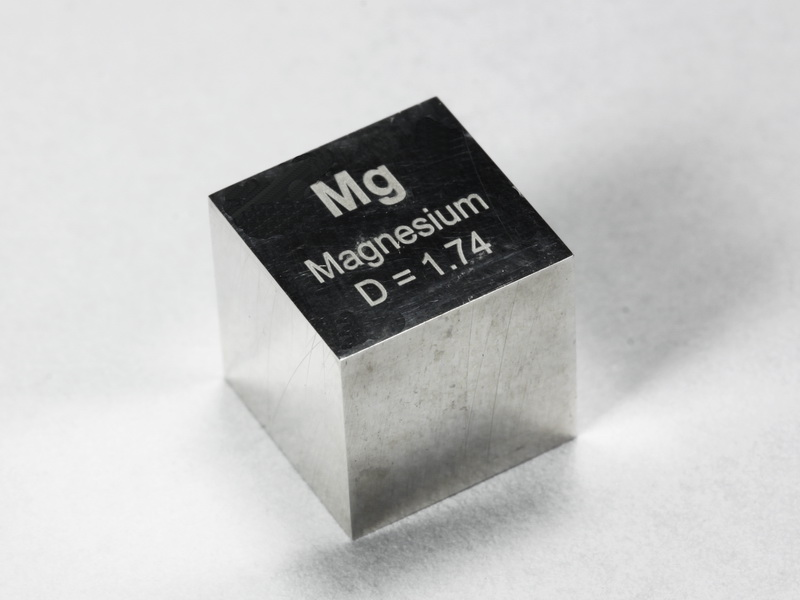 Magnesium precision density cube 10mm – 1.74g