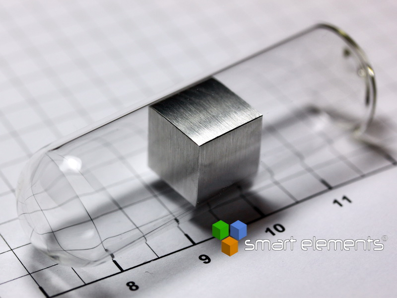 Magnesium precision density cube 10mm sealed under argon 1.74g