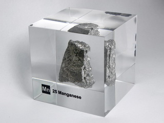 Acrylic Element cube - Manganese Mn - 50mm