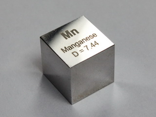 Manganese - precision density-standard cube 1cm3