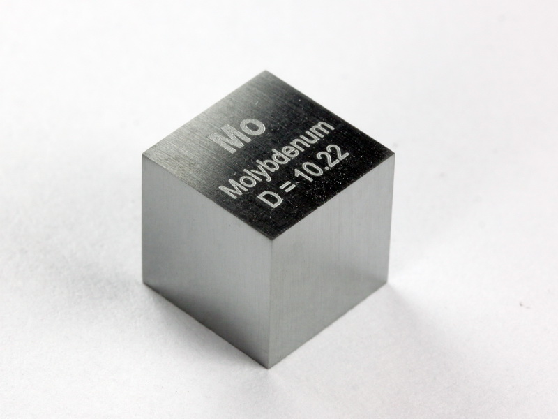 MOLYBDENUM precision density cube 10mm – 10.22g