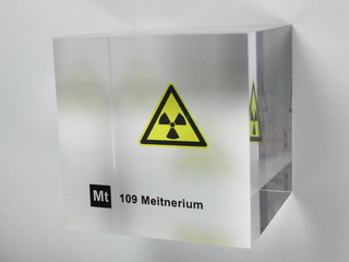 Acrylic Element cube - Meitnerium - 50mm