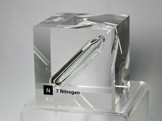smart-elements - Acrylic Element cube - Nitrogen N2- 50mm