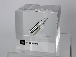 Acrylic Element cube - Sodium Na - 50mm
