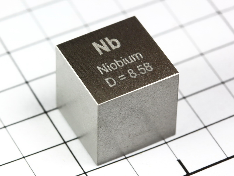 NIOBIUM precision density cube 10mm – 8.58g