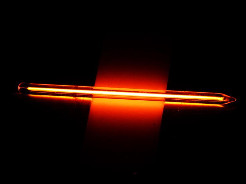 Neon capillary spectrum quartz discharge tube ?3x 55mm – NEW