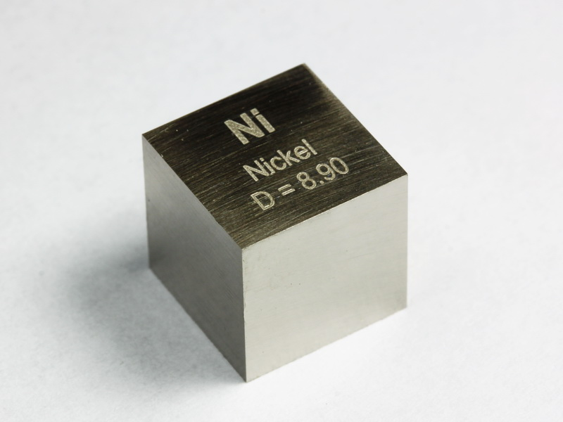 NICKEL precision density-standard cube 10mm – 8.9g
