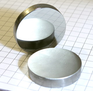 High purity polished Niob-Disc 99.95% purity - 182.9 grams