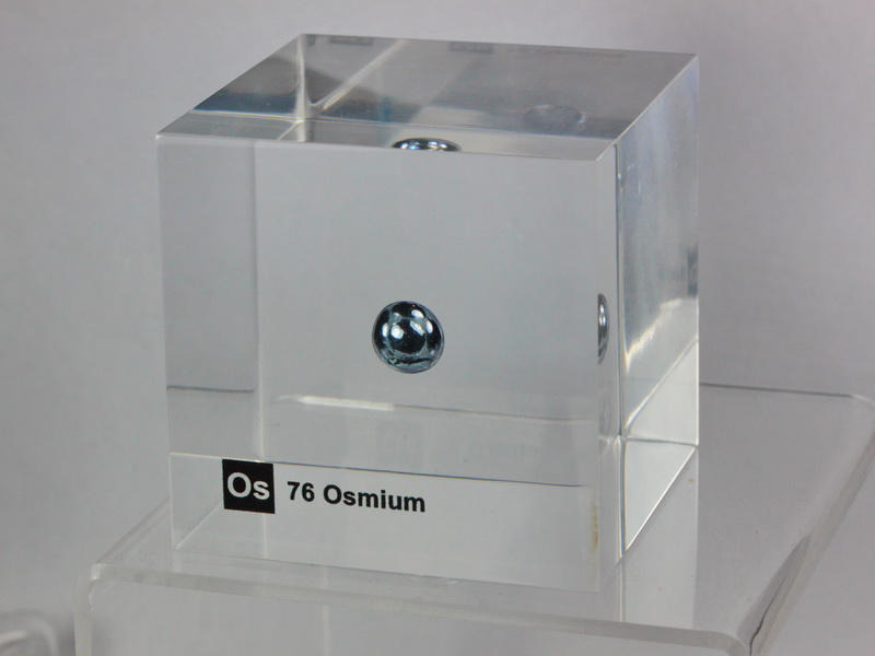 Acrylic Element cube – Osmium Os – 50mm