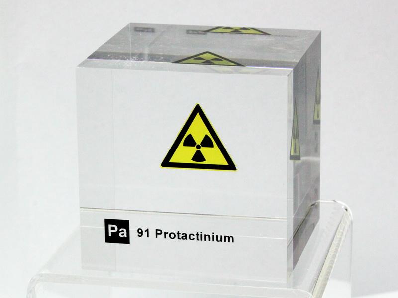 50mm Acrylic Element cube Rubidium Rb