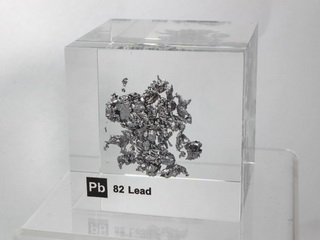 Acrylic Element cube - Lead Pb - 50mm