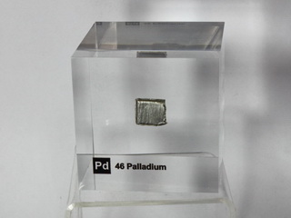 Acrylic Element cube - Palladium Pd - 50mm