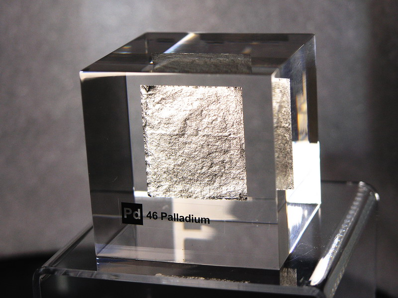 Acrylic Element cube – Palladium Pd – 50mm