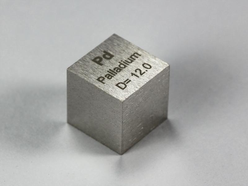 PALLADIUM precision density-standard cube 1cm3 – 12.0g