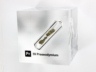 smart-elements - Acrylic Element cube - Praseodymium - 50mm
