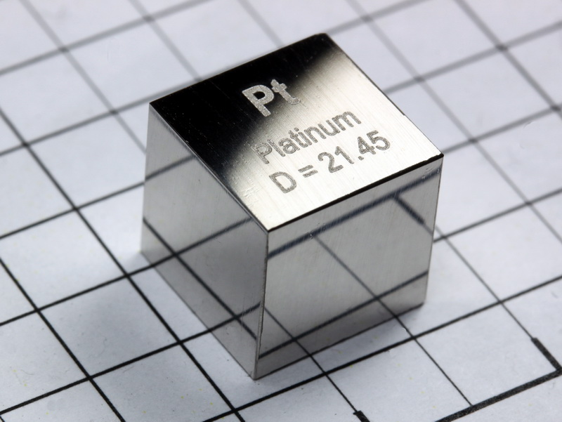 PLATINUM precision density-standard cube 10mm – 21.45g