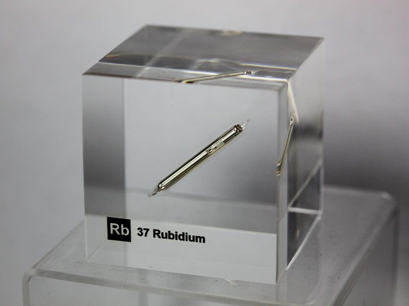 Acrylic Element cube – Rubidium Rb – 50mm