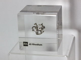 smart-elements - Acrylic Element-block Rhodium Rh - 50mm