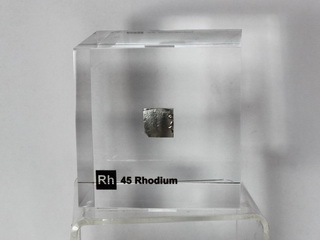 Acrylic Element cube - Rhodium Rh - 50mm