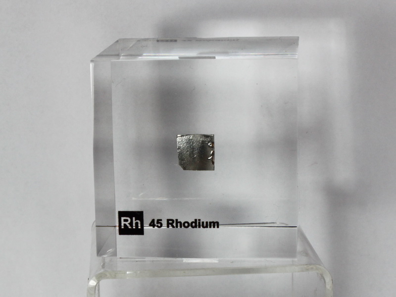 Acrylic Element cube – Rhodium Rh – 50mm